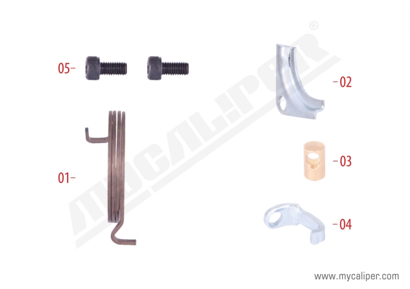 Caliper Spring & Retainers Repair Kit (Left)