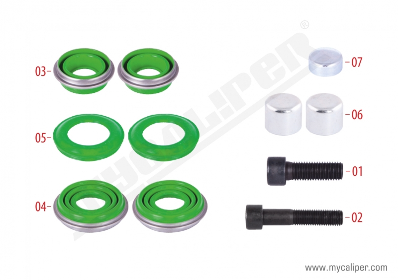 Caliper Seals & Bolts Repair Kit
