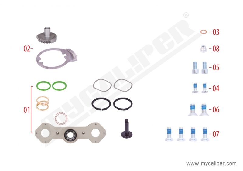 Caliper Adjusting Mechanism Gear Kit (Left)
