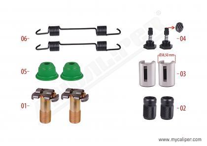 Brake Adjusting Repair Kit (Thick Teeth - Old Model)