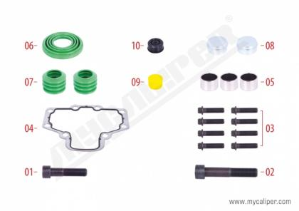 Caliper Bolts, Seals & Gasket Repair Kit