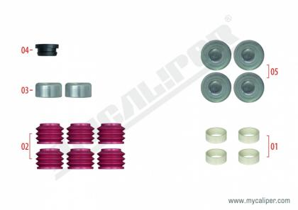 Caliper Boots & Cap Repair Kit