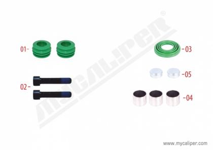 Caliper Guide & Bush Repair Kit