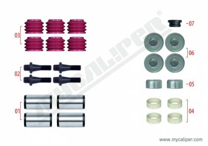 Caliper Guide & Seals Repair Kit