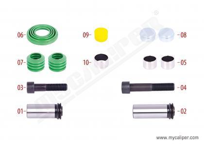 Caliper Guides & Seals Repair Kit (Otokar Sultan Bus)