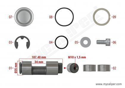 Caliper Hand Brake Repair Kit