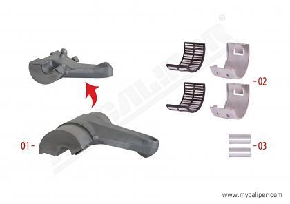 Caliper Lever Repair Kit (Length 123 mm)