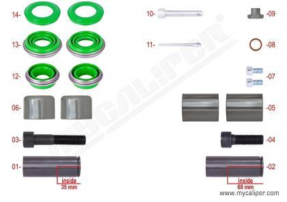 Caliper Overhaul Repair Kit