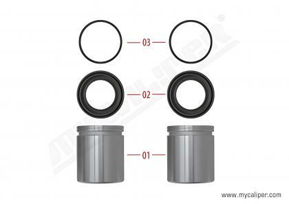 Caliper Piston & Seal Kit