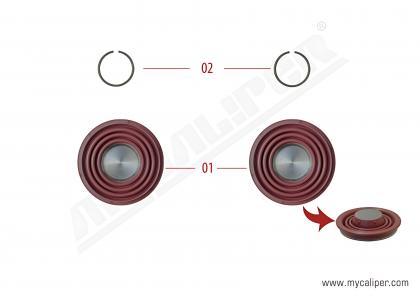 Caliper Piston Tappet & Circlip Repair Kit