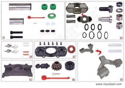 Caliper Repair Kit Complete For Renault -Left
