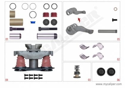 Caliper Repair Set New Type (Without Pin)