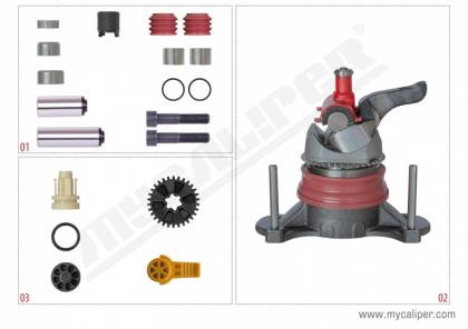 Caliper Repair Set- SBS 2220 (MODUL T-HALDEX)