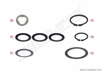 Caliper Washer & Circlip Repair Kit
