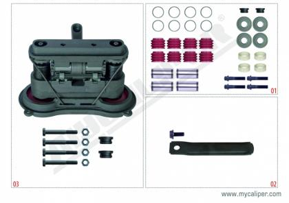 MARK II-III (2-3) TYPE Piston Version Repair Set