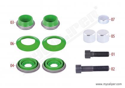 Caliper Seals & Bolts Repair Kit