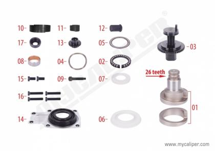 Caliper Overhaul Repair Kit (Front - Right)