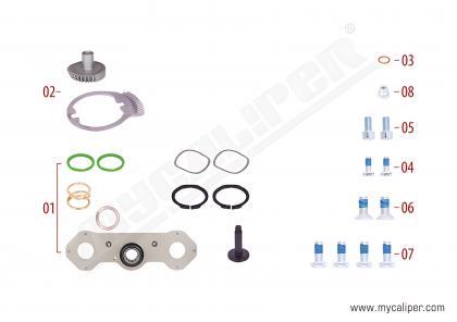 Caliper Adjusting Mechanism Gear Kit (Left)
