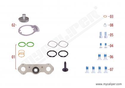 Caliper Adjusting Mechanism Gear Kit (Right)